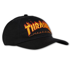 "Thrasher - Gorro Strapback ""FLAME OLD TIMER HAT"" Black"