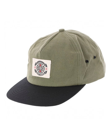 "Independent - Gorro Snapback ""Anytime Label"" Olive/Black"