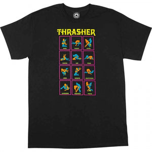 Thrasher - Polera Black Light Black