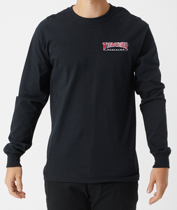 Thrasher - Polera Manga Larga Embroidered Outlined Black (2265668517947)