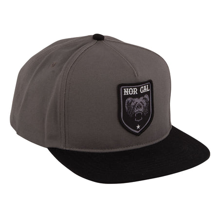 "Nor Cal - Snapback Adjustable ""Alameda"" Grey/Black"