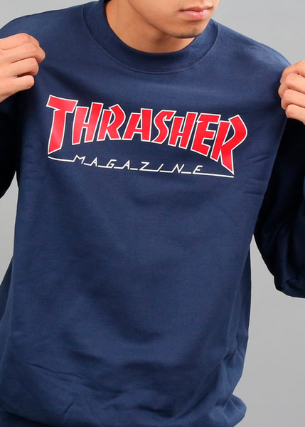 Thrasher - Polerón Polo Outlined Navy (1489348755515)
