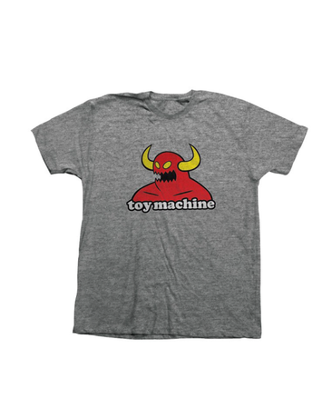 "Toy Machine – Polera ""Monster Heather"" Grey"