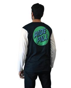 "Pill – Polera Manga Larga ""Ride Pill"" Black/White (1489214898235)"