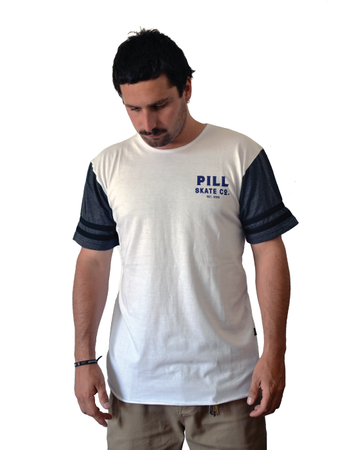 "Pill – Polera ""Strong"" White/Dark Grey"