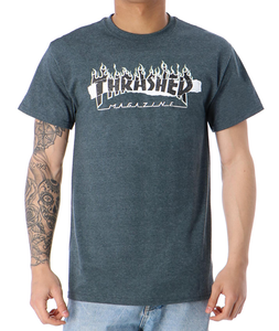Thrasher - Polera Ripped Dark Heather (2264966398011)