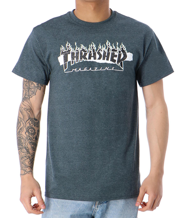 "Thrasher - Polera ""Ripped"" Dark Heather"