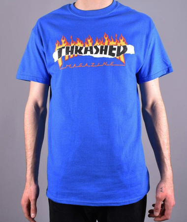 "Thrasher - Polera ""Ripped"" Royal Blue"