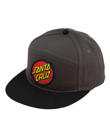 "Santa Cruz - Gorro Snapback ""Dot"" Grey/Black"