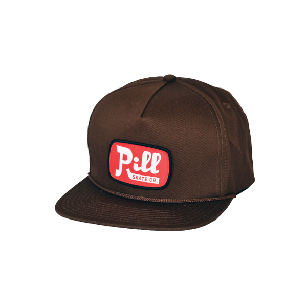 "Pill - Gorro Snapback ""Oil"" Brown/Red (1489216962619)"