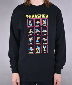 Thrasher - Polera Manga Larga Black Light Black (2123344478267)