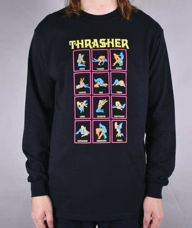 "Thrasher - Polera ""Black Light"" Black"
