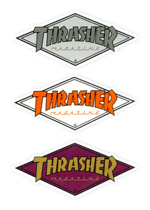 Thrasher - Sticker Diamond Logo (5x11 aprox) unidad
