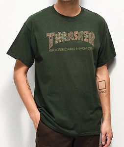 "Thrasher - Polera ""Davis Forest"" Green"