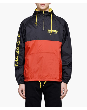 "Thrasher - Jacket ""Mag Logo Anorak"" Black/Red/Yellow"