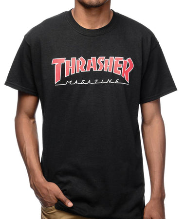 "Thrasher - Polera ""Outlined"" Black"