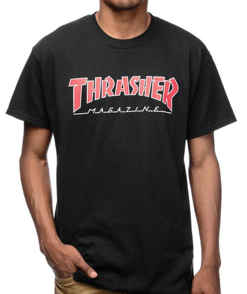 Thrasher - Polera Outlined Black (2124822183995)