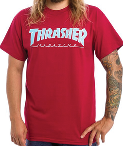 "Thrasher - Polera ""Outlined"" Cardinal"