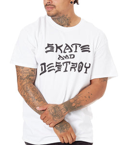 Thrasher - Polera SAD White (1489338630203)
