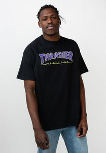 Thrasher - Polera Outlined Black Purple