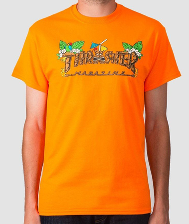 "Thrasher - Polera ""Tiki"" Safety Orange"