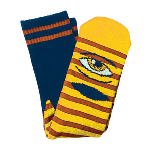 Toy Machine - Calcetines Eye Stripe Sect Navy/Yellow SOCTM0018