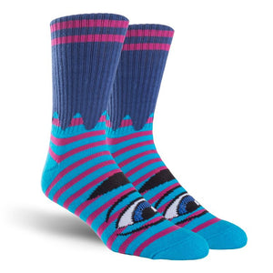 Toy Machine - Calcetines Eye Stripe Sect Navy/Purple SOCTM0018