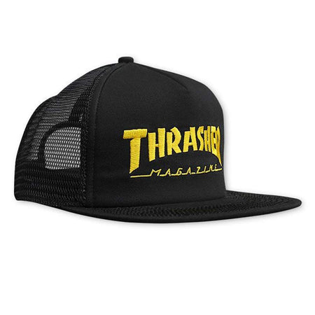 "Thrasher - Gorro Trucker ""Skate Mag"" Black/Yellow"