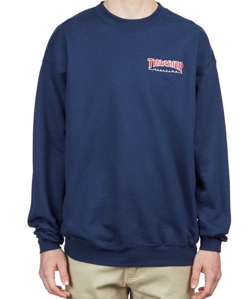 "Thrasher - Polerón Polo ""Embroidered Outlined"" Navy (2264731975739)"