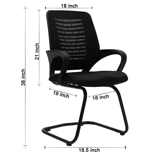 Fliq Visitor Chairs -M031 Chairs - makemychairs