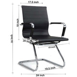 Sleek Black Rexine Visitor Chair Chairs - makemychairs
