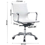 Sleek White Rexine MB Chair Chairs - makemychairs