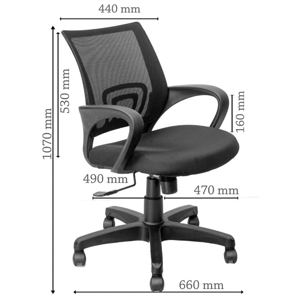 Cliq Mesh Back Chair -M029 Chairs - makemychairs