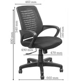 Fliq Mesh Back Chair -M044 Chairs - makemychairs