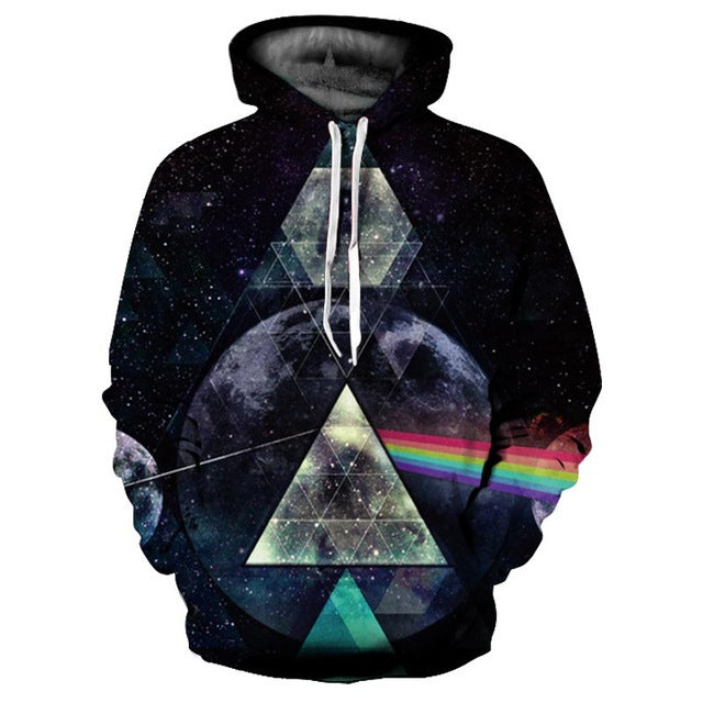 3D Printed Hoodie Triangle Moon - From Moon Landers