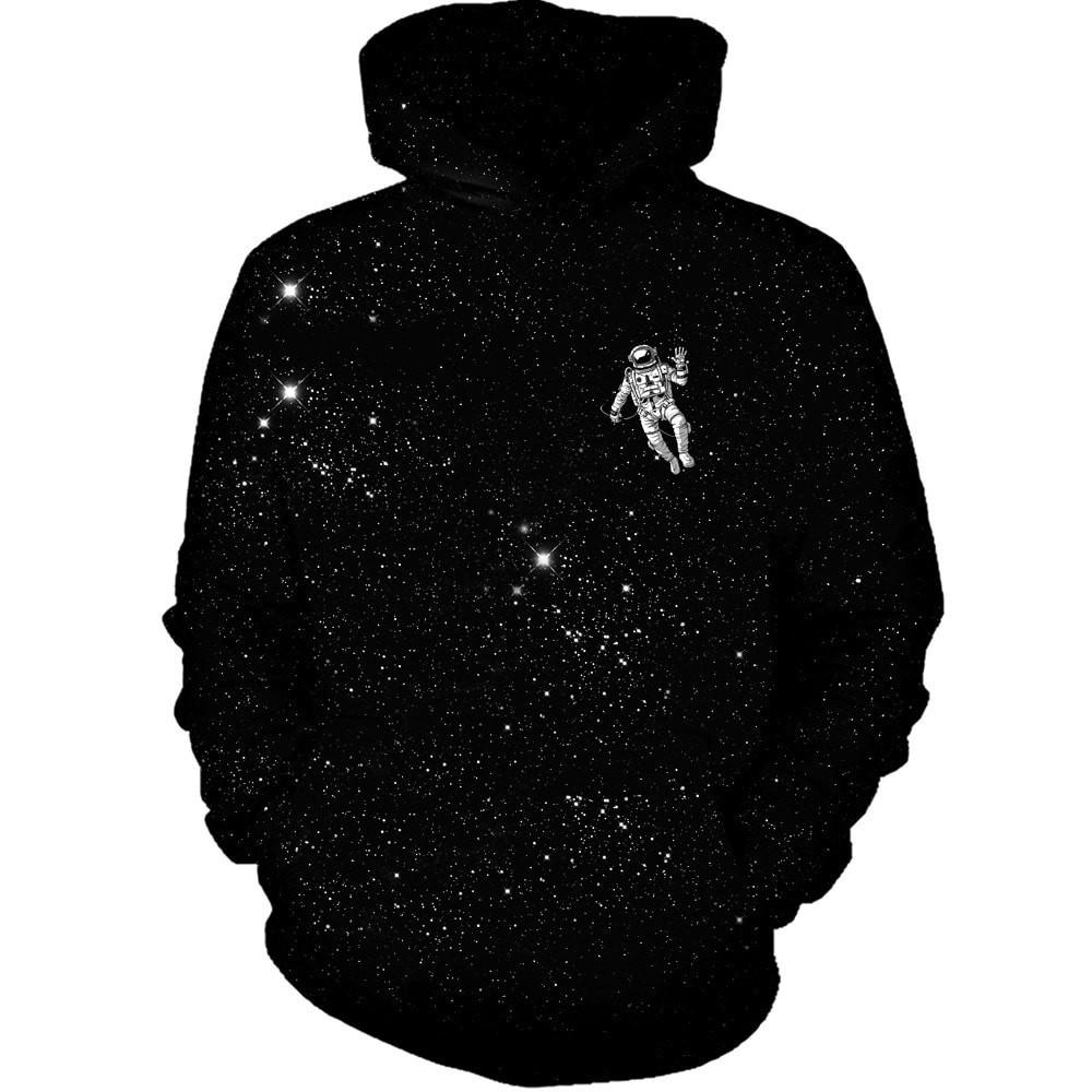 3D Printed Hoodie Lost Astronaut - From Moon Landers