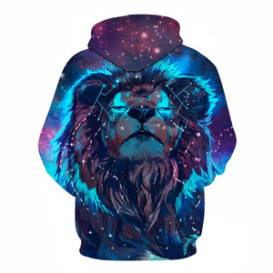 3D Printed Hoodie Lion Constellation - From Moon Landers
