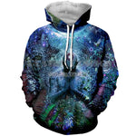 3D Printed Hoodie Cosmic Meditation - From Moon Landers