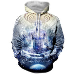 3D Printed Hoodie Cosmic Chakra - From Moon Landers