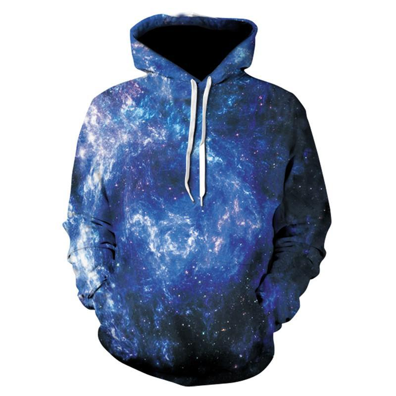 3D Printed Hoodie Natural Galaxy - From Moon Landers
