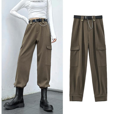 Cool Style Pocket Loose Street Pants