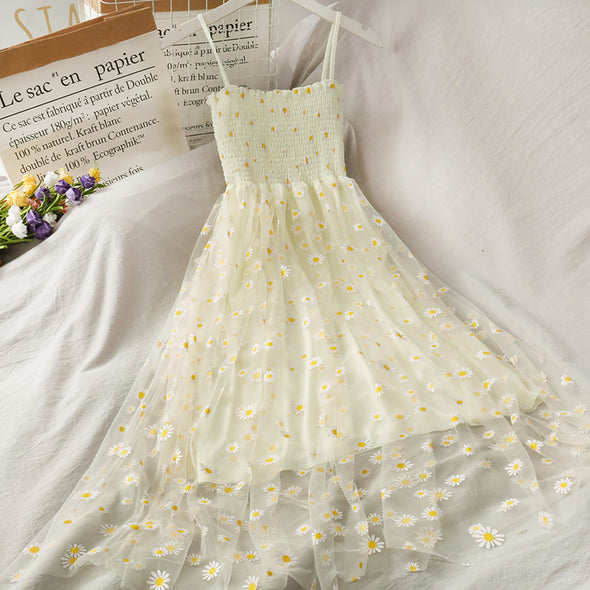 Little Daisy Mesh Sling Dress