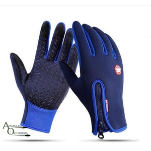 All-Weather Touchscreen Gloves - Blue / S
