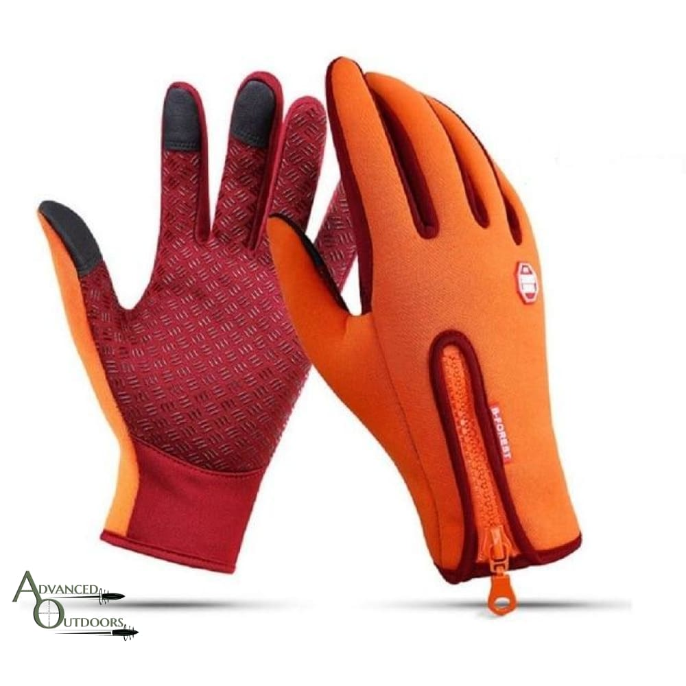 All-Weather Touchscreen Gloves - Orange / S