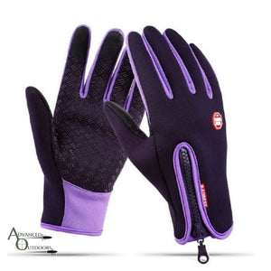 All-Weather Touchscreen Gloves - Plum / S