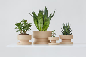 Set of flower pots - natural