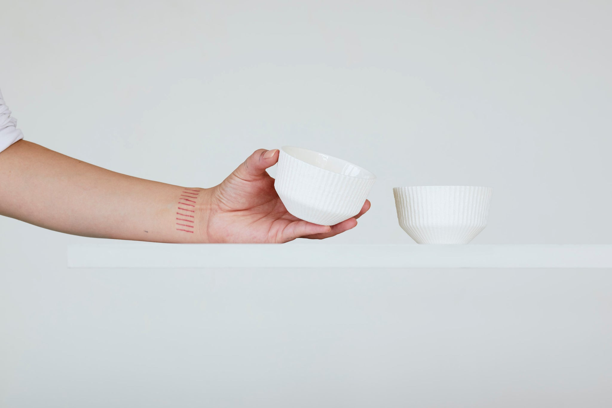 Fiber porcelain mini bowl