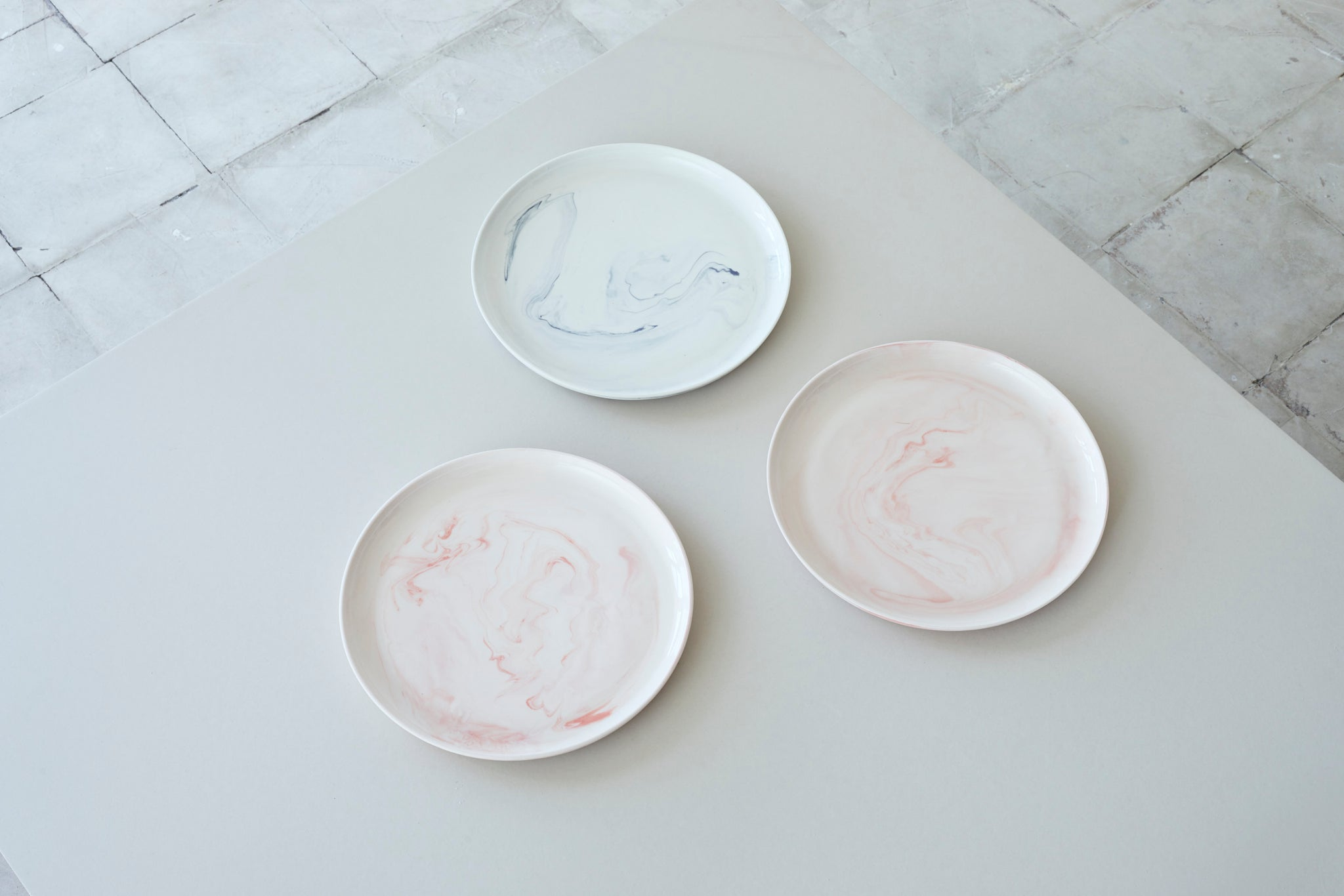 Porcelain marble plate