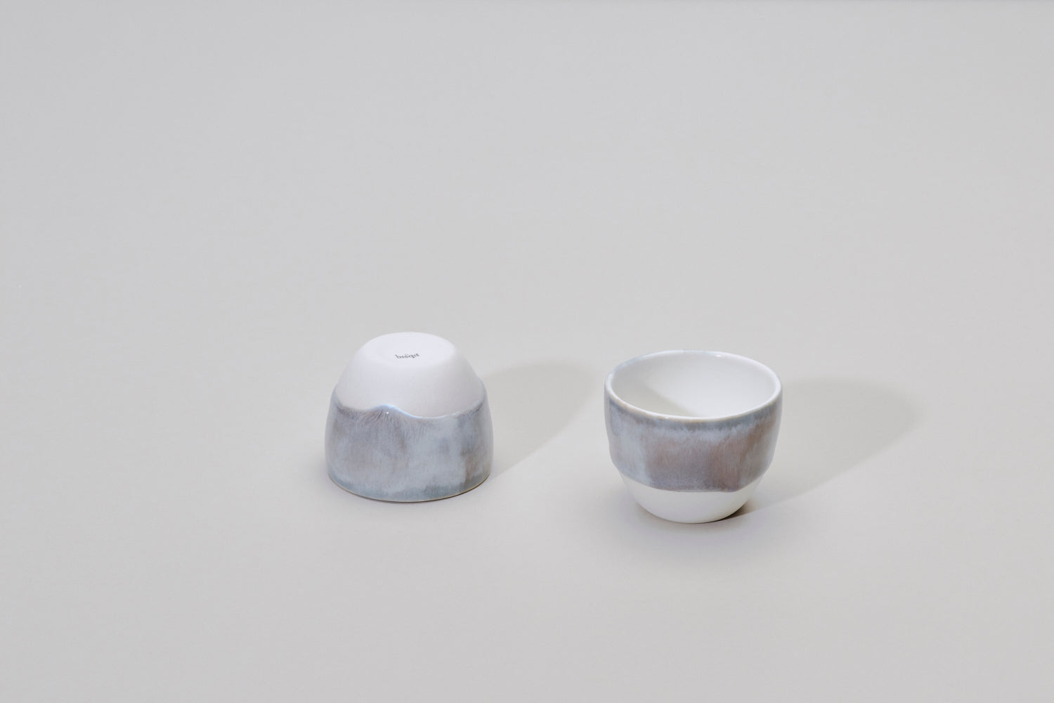 Simple frosty gray cup