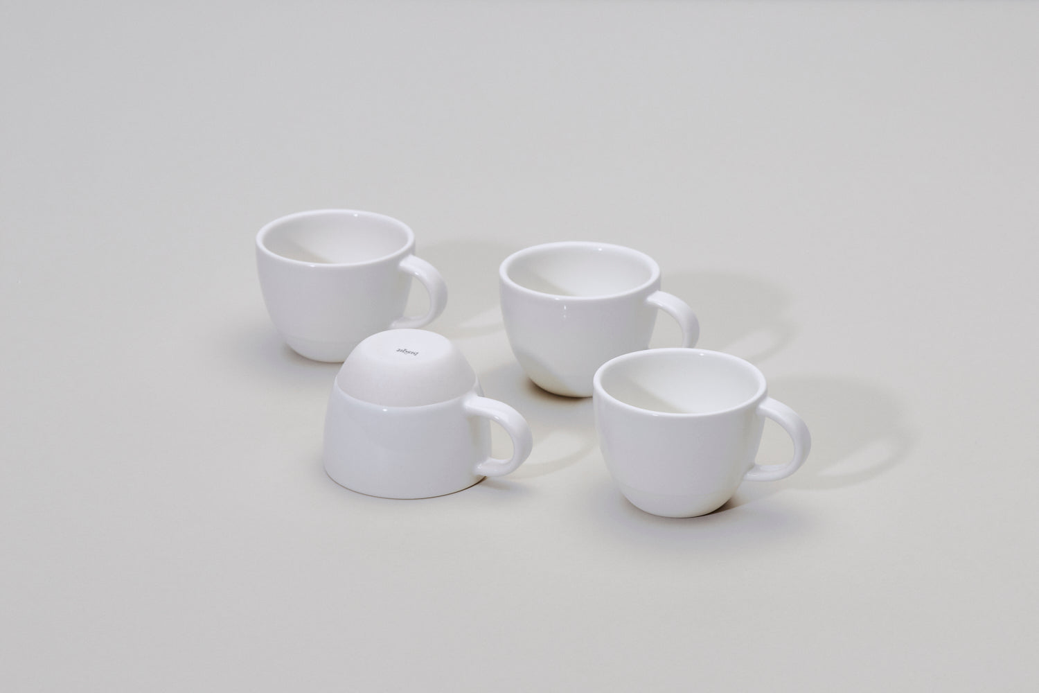 Simple white cup with handle